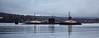 RN Submarine and Serco Tugs passing Rhu - 26 November 2015