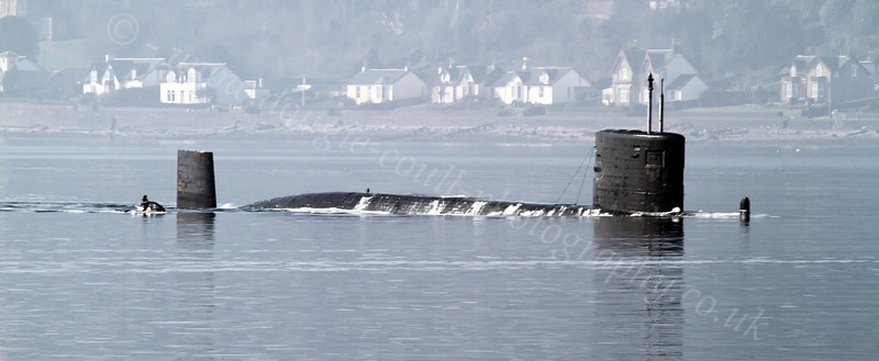 Trafalgar-Class Submarine Surfacing - Loch Long - 26 March 2012