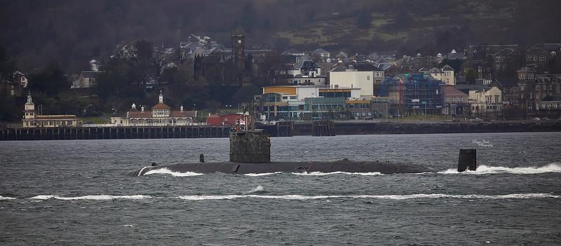 HMS Talent (S92) off Cloch Point, Gourock - 10 January 2021