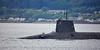 Vanguard Class RN Submarine passing Cloch Lighthouse - 26 May 2016
