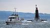 HMS Victorious - Approaching Faslane Naval Base - 30 January 2012