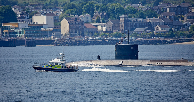 HMS Trenchant (S91) off Cloch Point - 8 June 2018