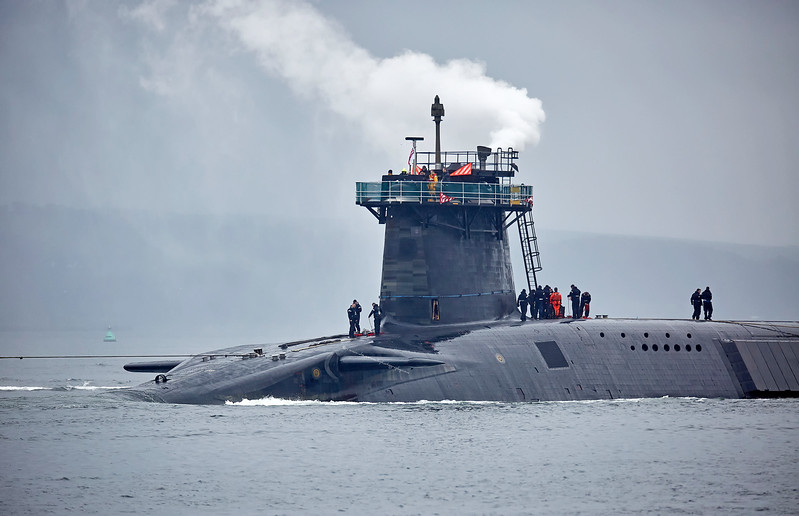 Vanguard Class Submarine off Rhu Spit - 1 June 2017