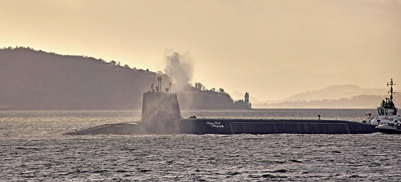 Vanguard Class Submarine off Kilcreggan - 25 February 2021