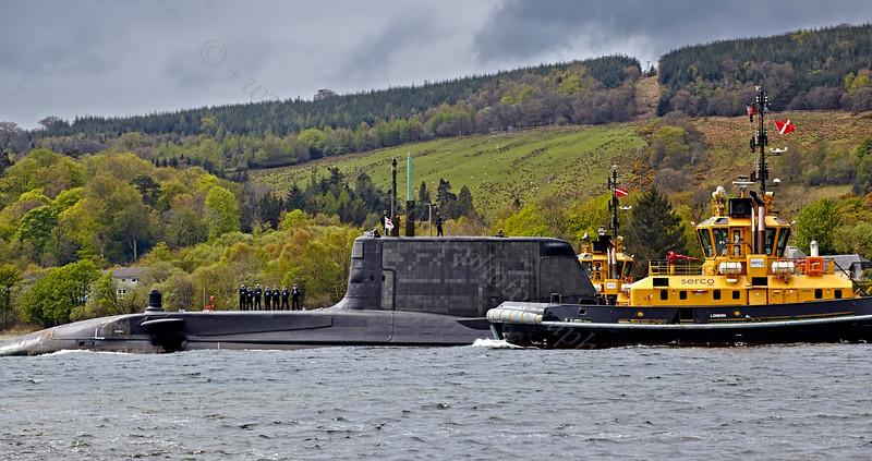 HMS Ambush Off Rhu Spit - 10 May 2013