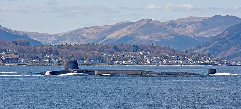HMS Vanguard (S28) off Cove - 15 April 2010