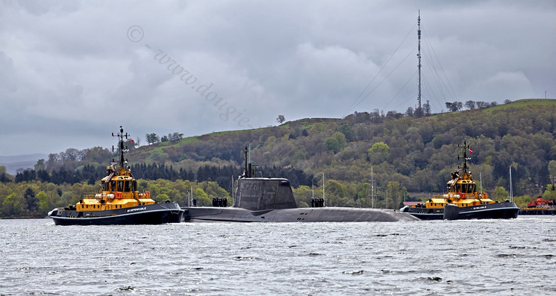 HMS Ambush - Off Rhu Spit - 10 May 2013