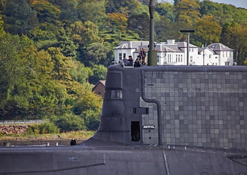'HMS Artful' off Rhu Spit - 21 September 2015