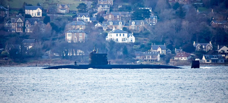 HMS Trenchant off Gourock - 23 February 2018