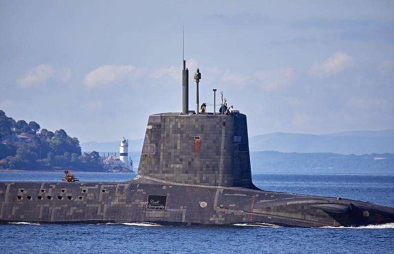 HMS Vengeance off Cove - 26 July 2018