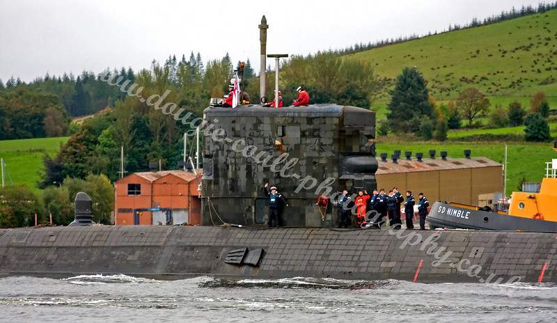 HMS Spectre - Gareloch, Scotland<br /> <br /> She was decommissioned at Plymouth on Friday December 10 2010
