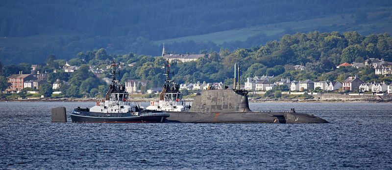 HMS Ambush bound for Coulport - 4 August 2016