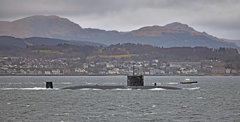 HMS Trenchant (S91) off Gourock - 11 March 2021