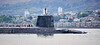 Vanguard Class Submarine departing Faslane - 5 June 2021