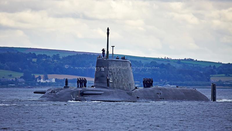 HMS Artful off Rhu Spit - 19 August 2015