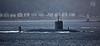 RN Trafalgar Class Submarine passing Gantock Rocks - 29 September 2016