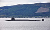 Vanguard Class RN Submarine passing Cloch Lighthouse - 26 May 2016