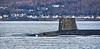 RN Vanguard Class Submarine off Cloch Point - 26 February 2020