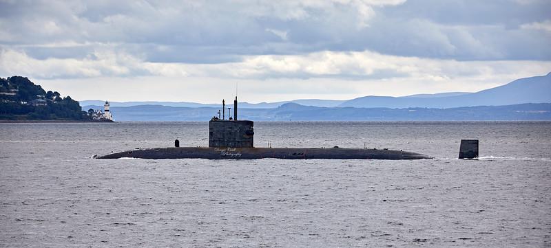 RN Trafalgar Class off Cove - 7 August 2018