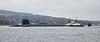 Vanguard Class Submarine at Rhu - 13 April 2018