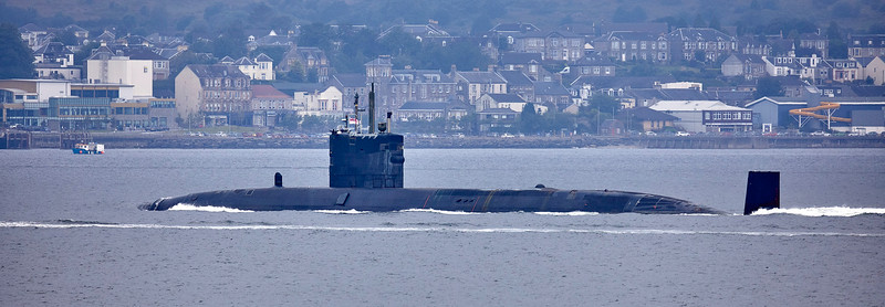 HMS Trenchant passing Cloch Point - 16 July 2019