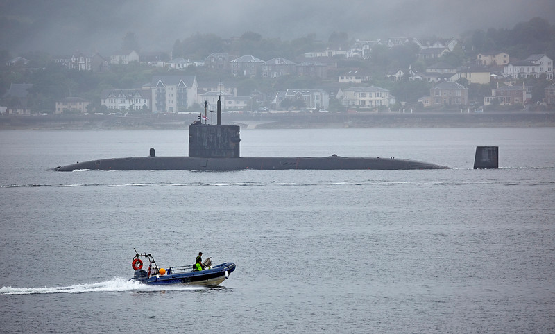 HMS Talent off Cloch Point - 23 July 2018