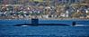 RN Trafalgar Class Submarine off Cloch Lighthouse - 5 November 2016