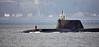 Astute Class RN Submarine off Cloch Lighthouse - 10 January 2017
