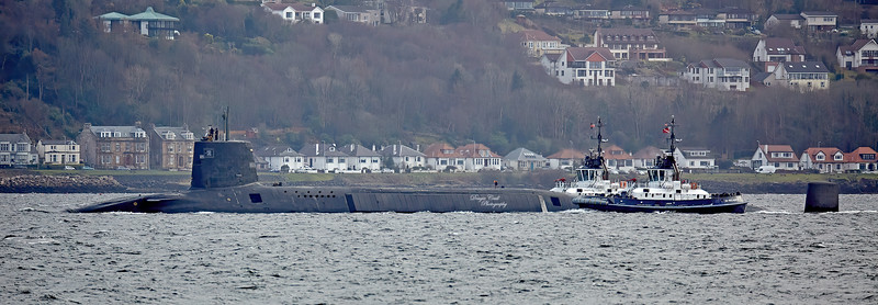 HMS Victorious off Gourock - 24 March 2016