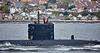 RN Trafalgar Class Submarine off Cloch Point - 6 May 2017