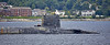 HMS Vengeance passing Cloch Lighthouse - 29 July 2020