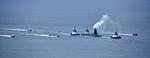 Vanguard Class RN Submarine passing Kilcreggan - 12 January 2017