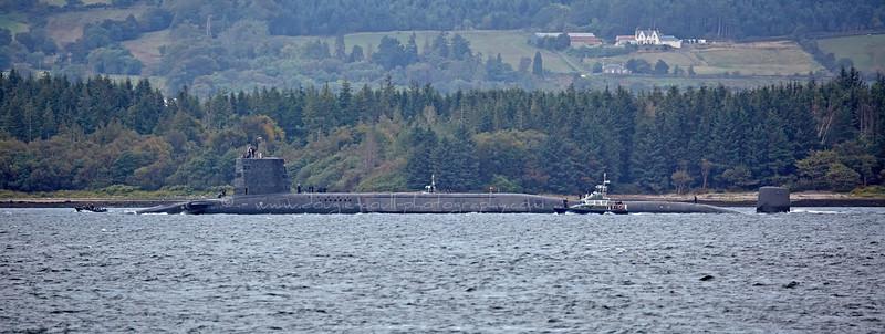HMS Vigilant off Kilcreggan - 25 September 2015