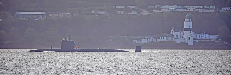 HMS Trenchant (S91) off Cloch Point - 12 September 2018