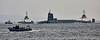 Vanguard Class Submarine 'Vigilant' off Rhu Spit with escorts - 10 April 2015