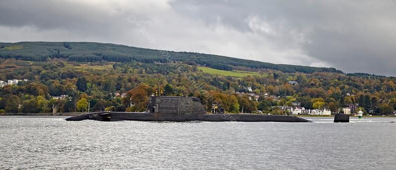 HMS Ambush off Rhu Spit - 9 October 2014