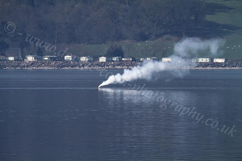Trafalgar-Class Submarine Fires Surface Flare - Loch Long - 26 March 2012
