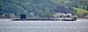 Vanguard Class RN Submarine passing Cove - 22 July 2018
