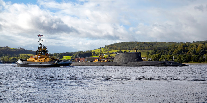 HMS Ambush - Off Rhu Spit - 19 September 2012