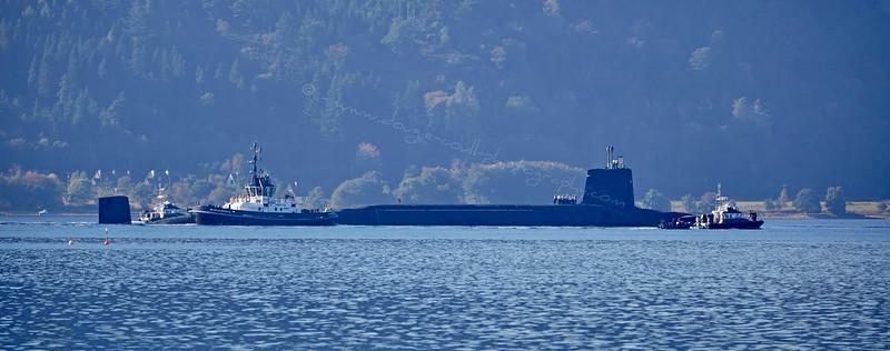 Vanguard Class  Submarine Coulport Bound - 30 September 2015