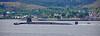 Vanguard Class RN Submarine passing Dunoon - 26 May 2016