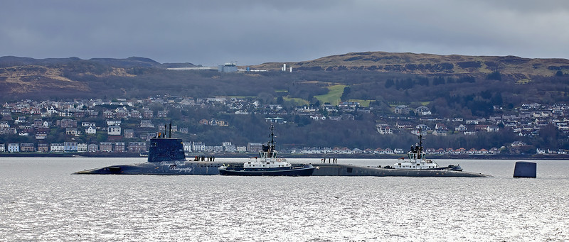Vanguard Class Submarine off Kilcreggan - 3 March 2020
