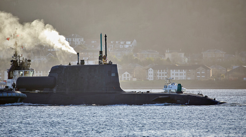 RN Astute Class Submarine off Cove - 8 January 2019