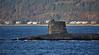 RN Submarine off Cloch Lighthouse - 2 December 2015