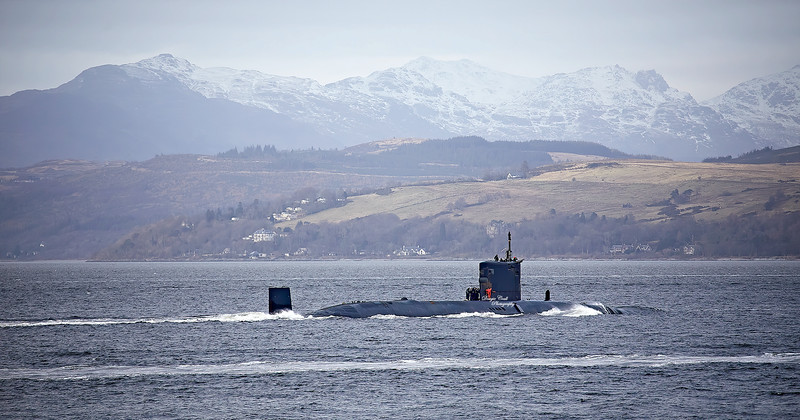 RN T-Boat off Gourock - 13 March 2020