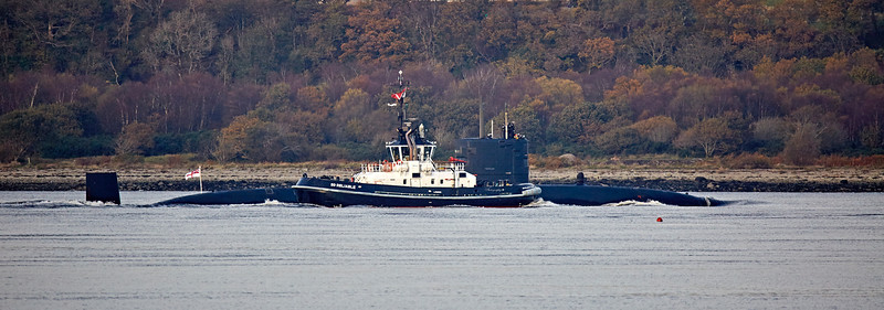 HMS Trenchant off Gourock - 30 October 2017