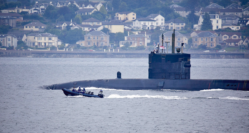 HMS Talent passing Cloch Point - 16 July 2019