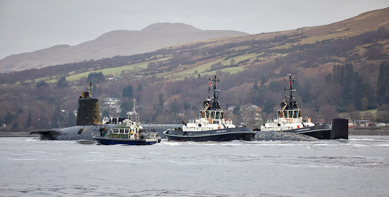 HMS Vengeance arrives at Faslane - 2 January 2019