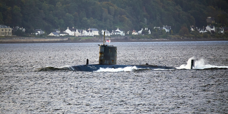 HMS Trenchant (S91) off Gourock - 13 March 2020