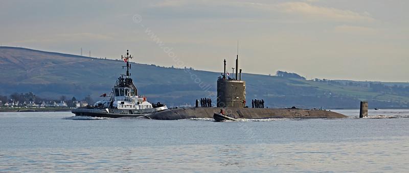 HMS Triumph (S93) at Rhu Narrows - 4 November 2014